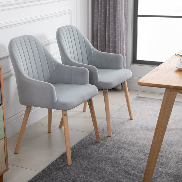 Velvet Style Dining Chairs - Set of 2