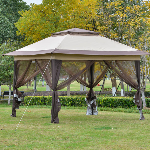 12x12 ft Pop Up Party Canopy Gazebo Tent with Roller Bag