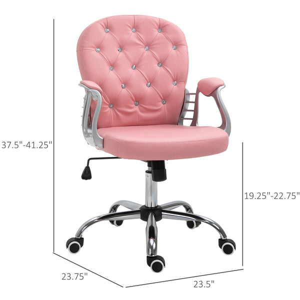Tufted Home Office Chair - Pink