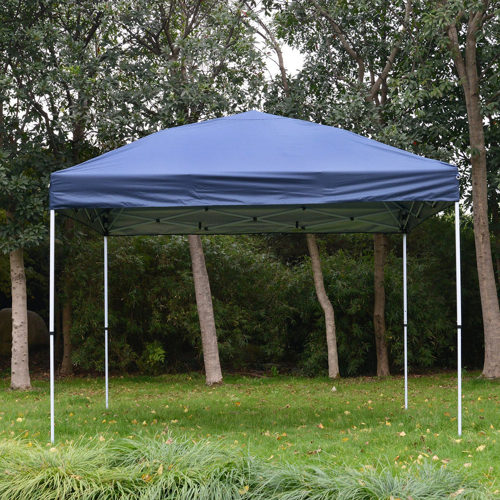 10x10 ft Easy Folding Outdoor Pop Up Party Tent with Carry Bag -  Dark Blue