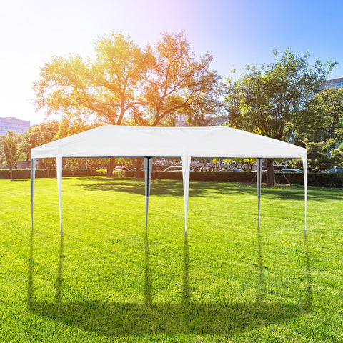 10x20 ft Pop Up Wedding Party Canopy Tent Without Walls - White