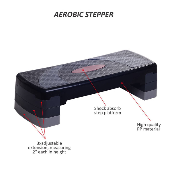 "30"" 3-Level Aerobic Riser Fitness Stepper"