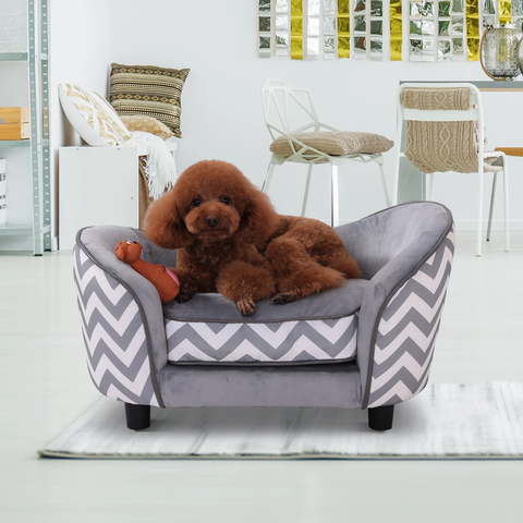 Dog Puppy Cat Pet Sofa Bed - Grey
