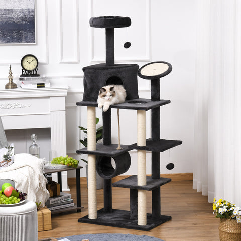 "71"" Cat Tree Activity Center - Dark Grey"