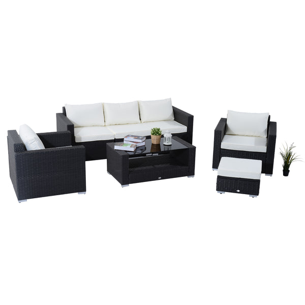 7pc Rattan Outdoor Patio Furniture Set