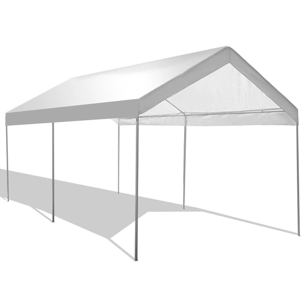 10x20 ft. Steel Frame Portable Car Canopy Tent - White