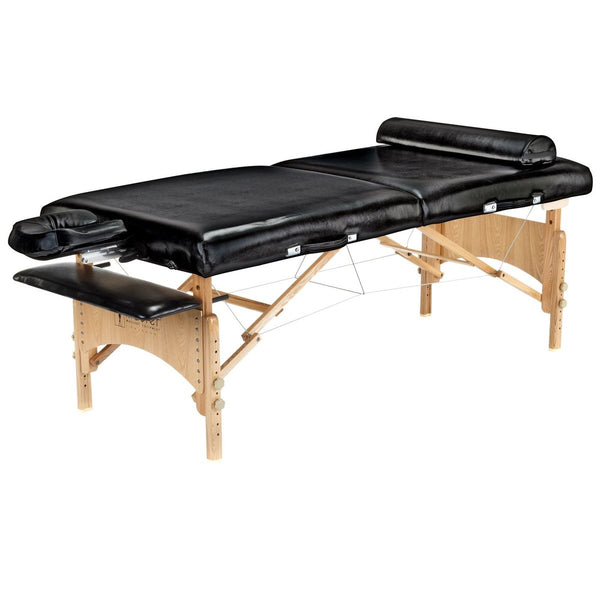 "Gibraltar 32"" LX Premium Garde Massage Table Package, Black with Memory Foam"