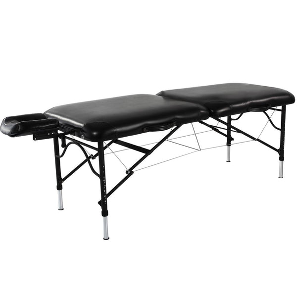"84"" StratoMaster LX Premium Portable Massage Table - Black"