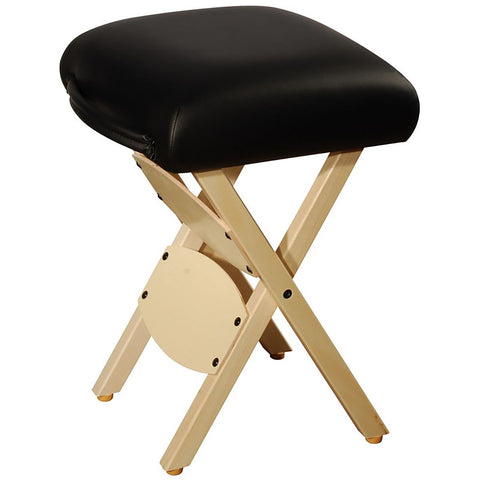 Wooden Folding Massage Stool - Black