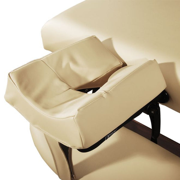 "Del Ray 30"" LX Therma Top Premium Portable Massage Table Package, Cream with Memory Foam"