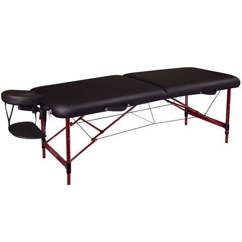 "72"" Zephyr Premium Portable Massage Table - Black"