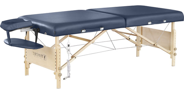 "Coronado 30"" LX Therma Top Premium Portable Massage Table Package, Royal Blue with Memory Foam"