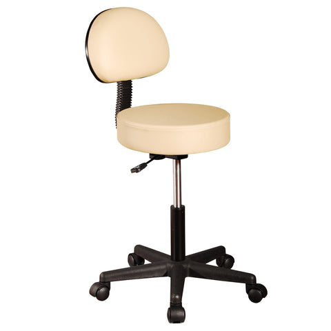 Premium Massage Stool with Backrest - Cream
