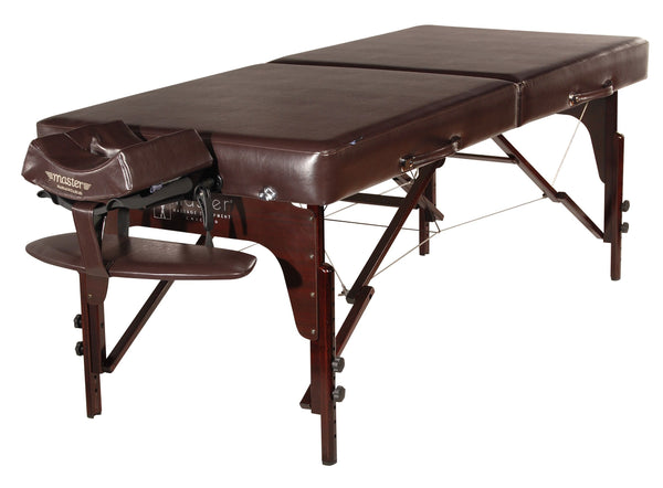 "Carlyle 31"" Premium Portable Massage Table Package, Chocolate with Memory Foam"