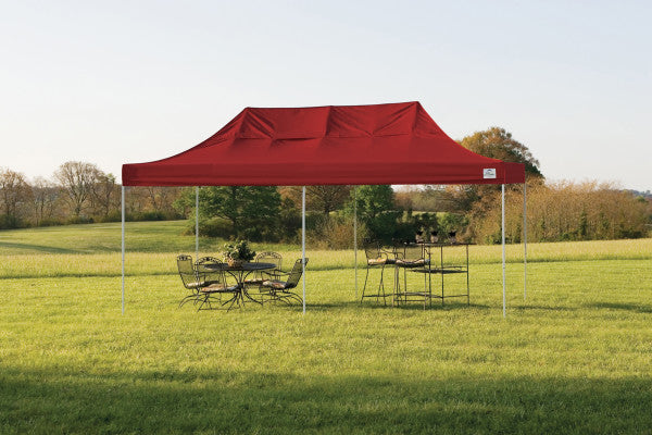 10x20 ft Straight Leg Heavy Duty Pop-Up Canopy Tent - Assorted Colours