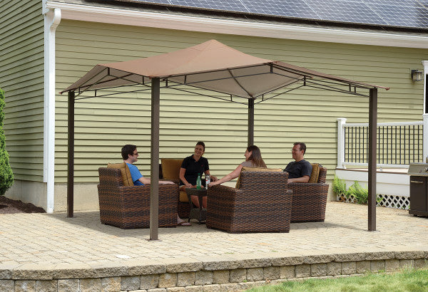 12x12 ft. Sequoia Fabric Softtop Gazebo - Bronze