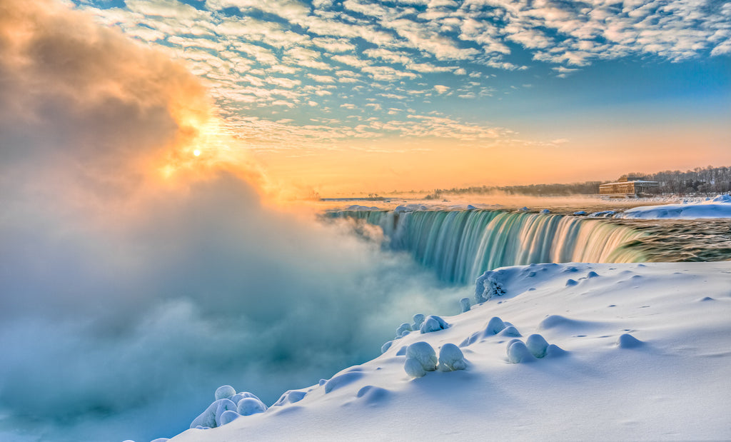 "Niagara Falls Landscape Photographer - The Story Behind ""Winter Sunrise Over Niagara Falls"""