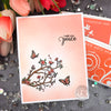 Soft Ink Blended Branches Card