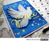 Watercolored Peace on Earth with Paper Layering Dove