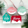 Snowy Scene Holiday Tags