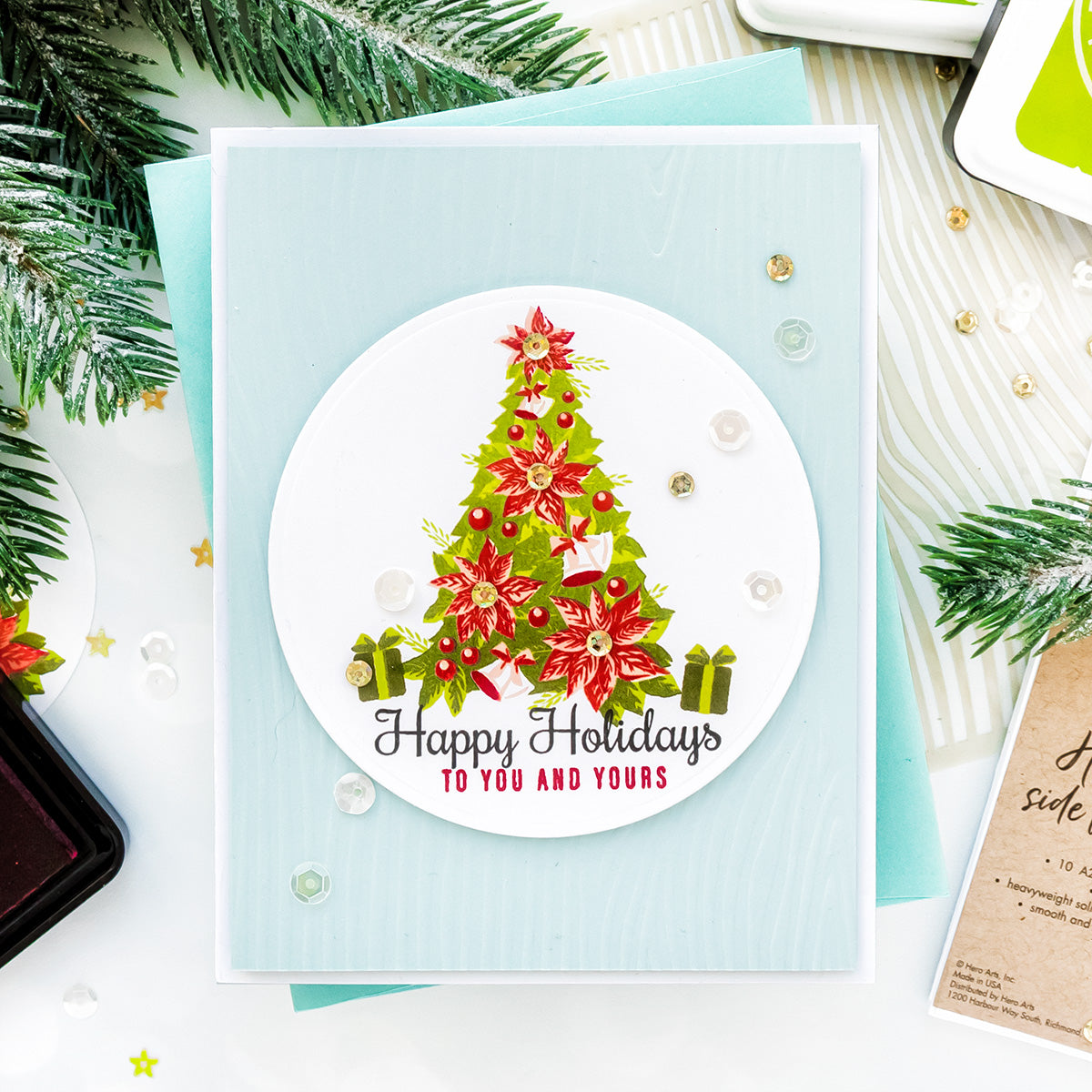 Poinsettias For Christmas 2020 Video: Poinsettia Christmas Tree | Color Layering With Yana Series