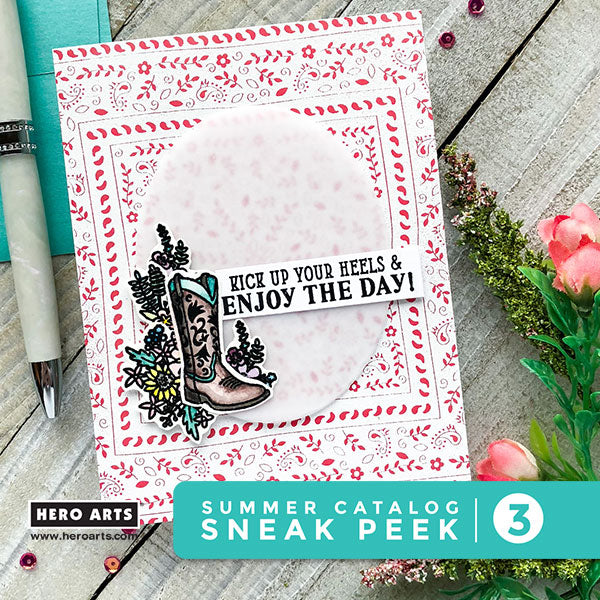 Creative Team Member Emily Midgetts First Card Features Two New Stamps The Is A 4 X 6 Clear Set Called Cowboy Life CM269 Thats Loaded With