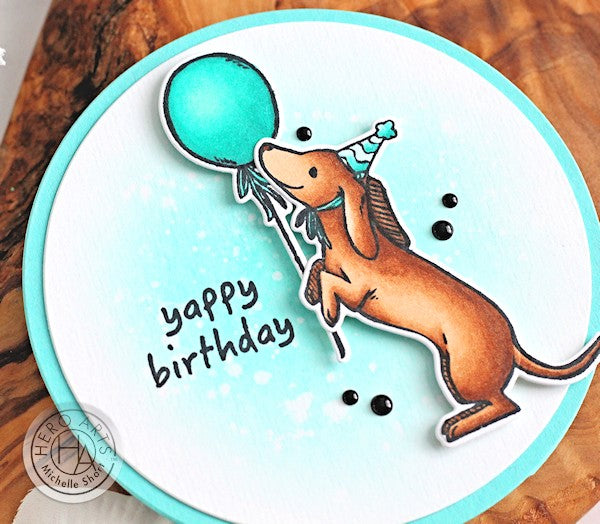 Yappy Birthday by Michelle Short for Hero Arts