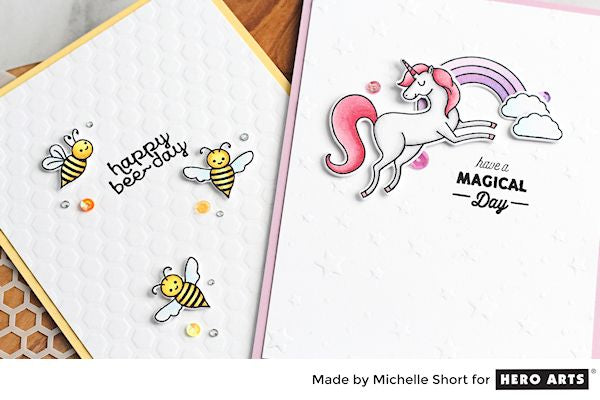 Embossing with Stencils by Michelle Short for Hero Arts