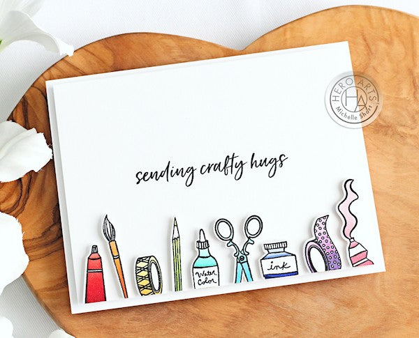 Sending Craft Hugs by Michelle Short for Hero Arts