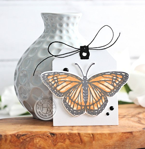 Monarch Butterfly Tag by Michelle Short for Hero Arts
