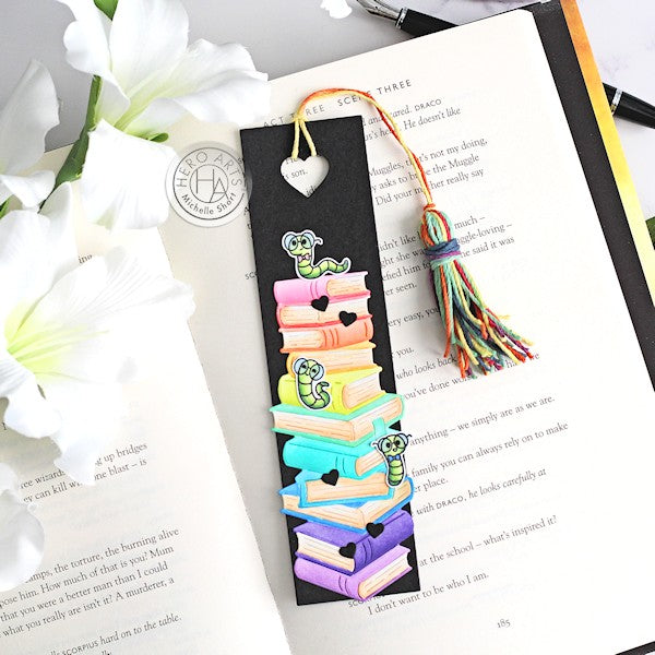 Bookworm Bookmark by Michelle Short for Hero Arts
