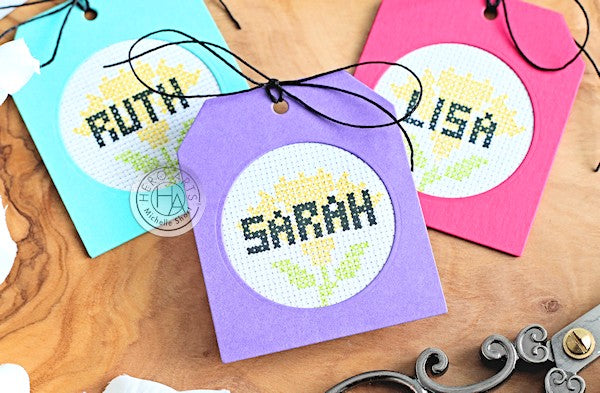 Cross Stitch Alpha Tags by Michelle Short for Hero Arts