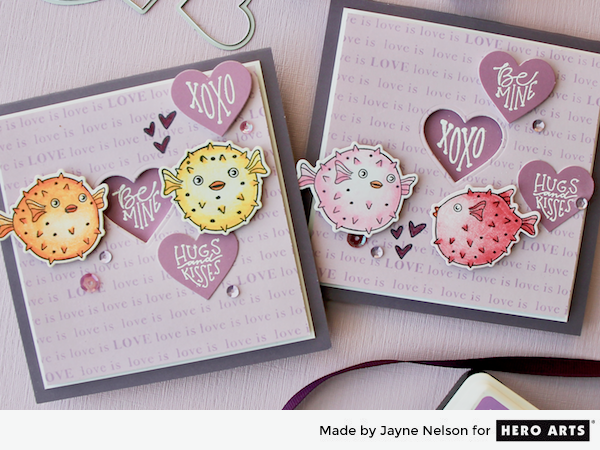 Heart shaped sentiments for valentine cards hero arts m4hsunfo