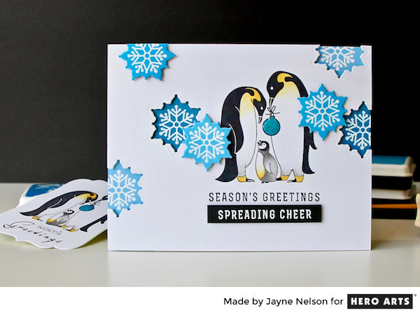 Penguin Family by Jayne Nelson for Hero Arts