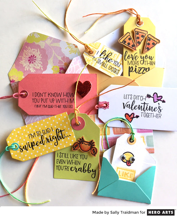 Valentines Tags by Sally Traidman for Hero Arts