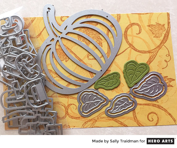 Vines and Pumpkins by Sally Traidman for Hero Arts