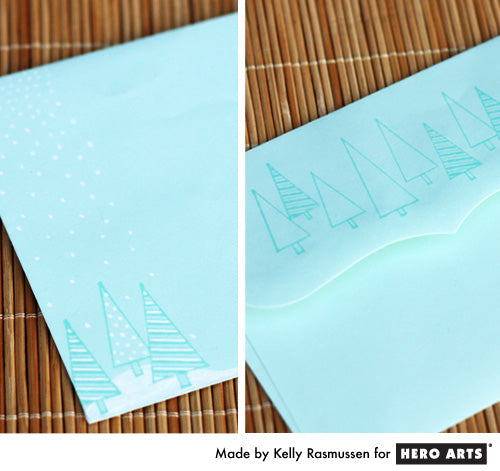 Hero Arts Christmas Tree Envelope by Kelly Rasmussen