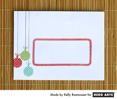 Hero Arts Ornament Envelope by Kelly Rasmussen
