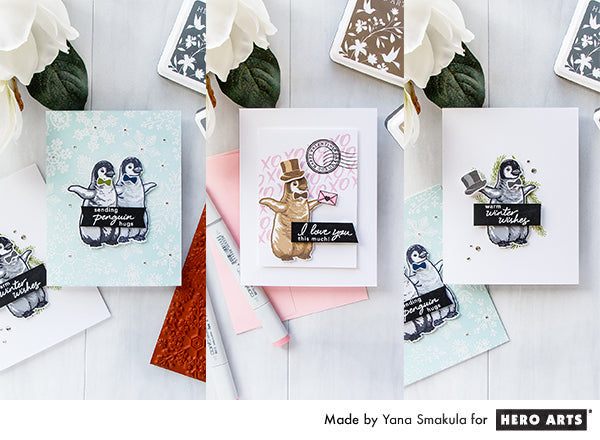 Video: Color Layering Baby Penguin Cards | Color Layering With Yana Series made by Yana Smakula for Hero Arts