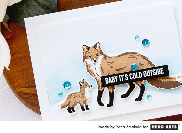 Baby It's Cold Outside Card by Yana Smakula for Hero Arts