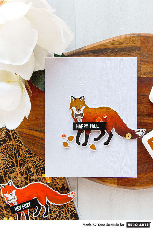 Hey Fall card by Yana Smakula for Hero Arts