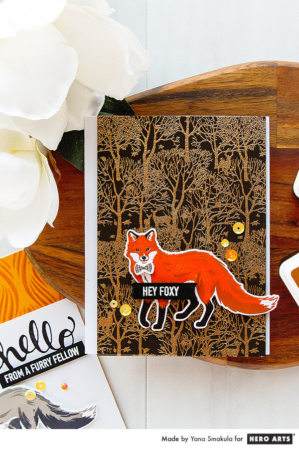 Hey Foxy Card by Yana Smakula for Hero Arts