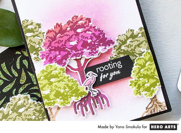Color Layering Mangrove Cards by Yana Smakula for Hero Arts