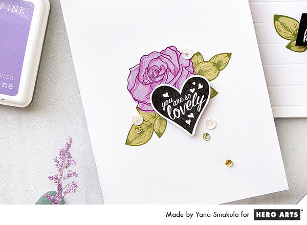 Color Layering Rose Cards by Yana Smakula for Hero Arts