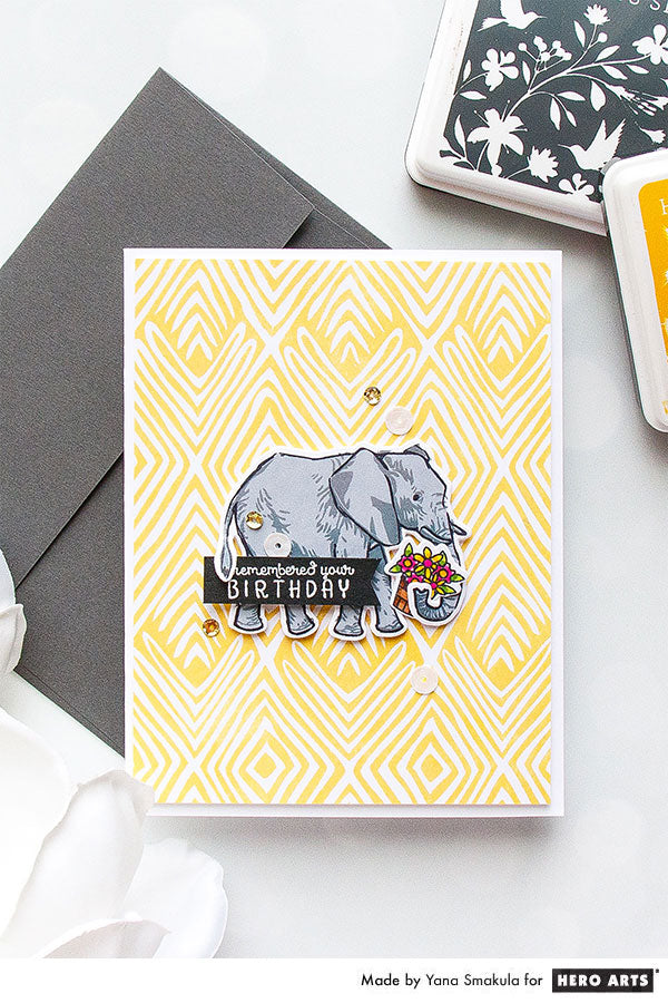 Color Layering Elephant Cards with Yana for Hero Arts