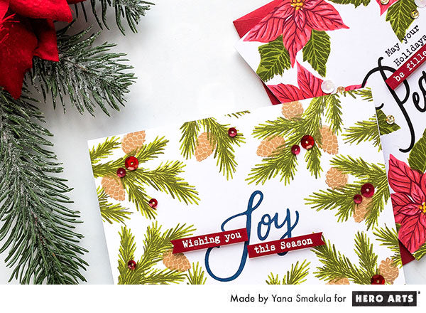 Wishing You Joy This Season Card by Yana Smakula for Hero Arts
