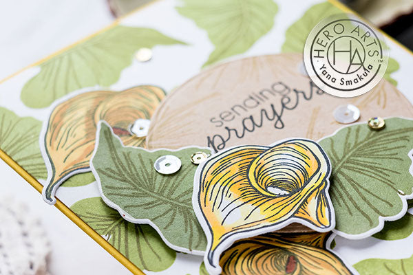 Color Layering Calla Lily Cards by Yana Smakula for Hero Arts