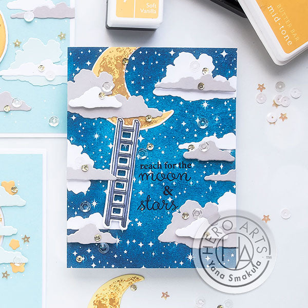 Color Layering Moon Cards by Yana Smakula for Hero Arts