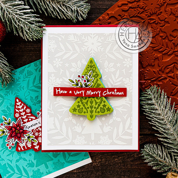 Color Layering Nordic Tree Cards by Yana Smakula for Hero Arts