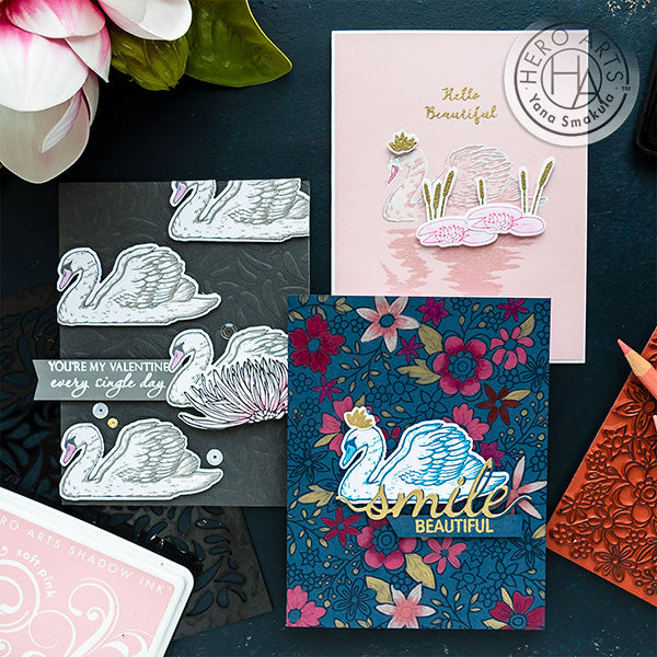 Friendship & Valentine's Day Swan Cards by Yana Smakula for Hero Arts